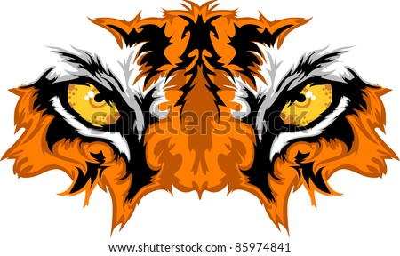 Tiger Eyes Mascot Graphic - stock vector