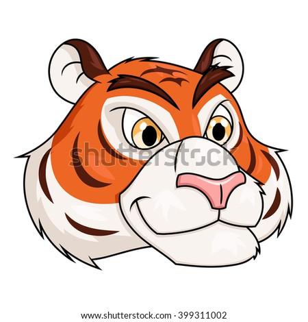Tiger head illustration 2 - stock vector