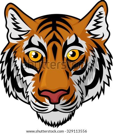 Tiger Head Mascot Team Sport cartoon - stock vector