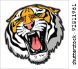 Tiger head - vector illustration - stock photo