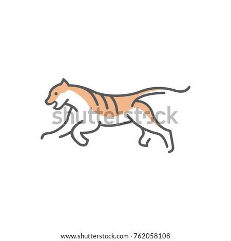 Tiger Line Drawing Simple Logo