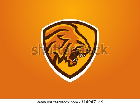 tiger mascot - stock vector