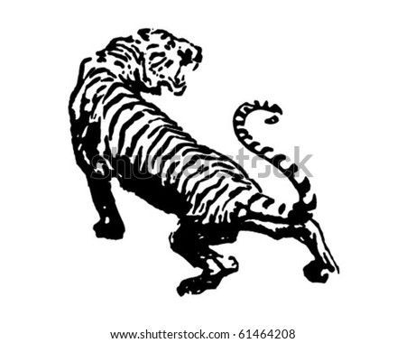 Tiger - Retro Clip Art