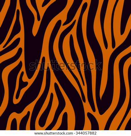 Tiger seamless vector pattern. Safari collection. Backgrounds & textures shop. - stock vector