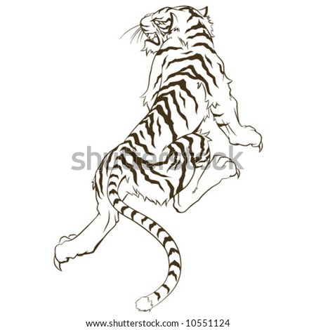 Tiger Tattoo - stock vector