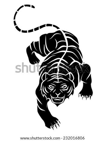 Tiger Tattoo - stock vector