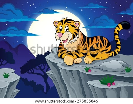 Tiger theme image 3 - eps10 vector illustration. - stock vector