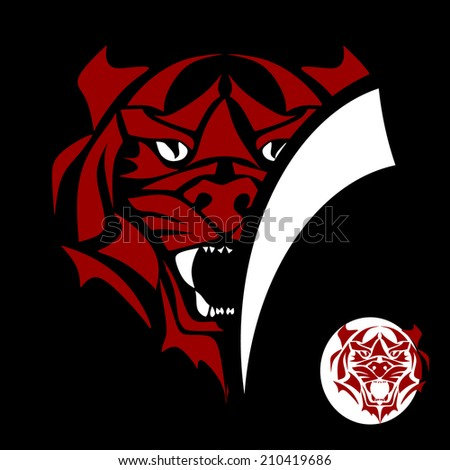 Tiger vector - stock vector