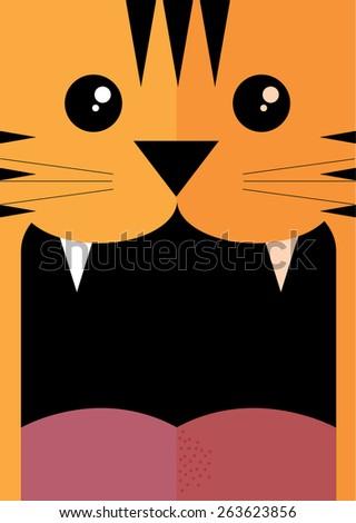 tiger vector/illustration - stock vector