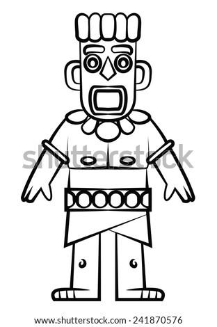 Tiki Statue - stock vector
