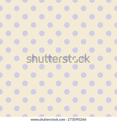 Tile pastel pattern with violet polka dots for background wallpaper - stock vector