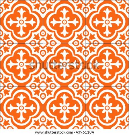 Tile pattern - stock vector
