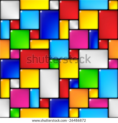 Tile seamless background. (See more seamless backgrounds in my portfolio) - stock vector