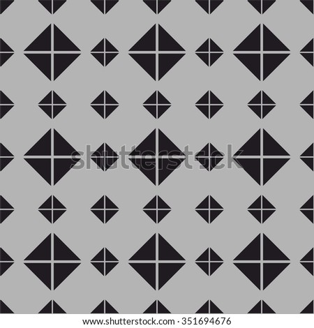 Tile vector pattern with grey and black background wallpaper - stock vector