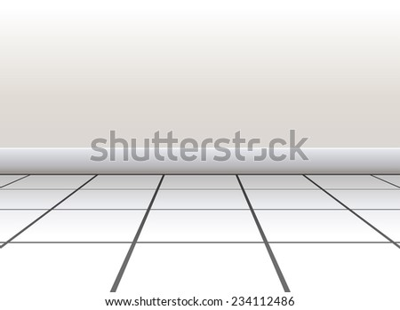 Tiled floor on a white background