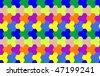 tiled seamless surface, abstract pattern; vector art illustration - stock vector
