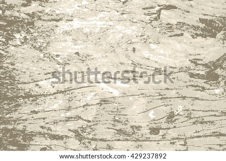 Timber wood weathered board plank with cracks, branch knot and twigs grunge background texture pattern for vintage design - stock vector