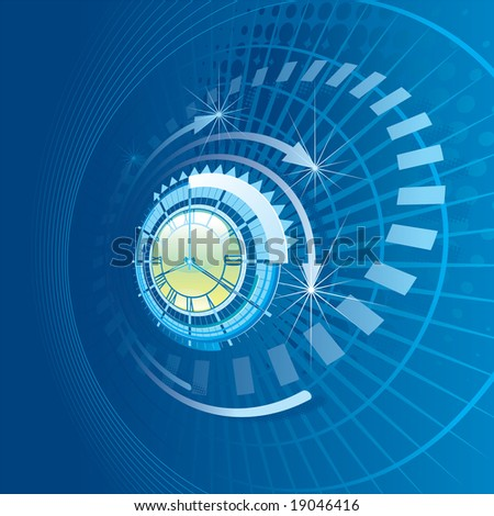 Time - stock vector