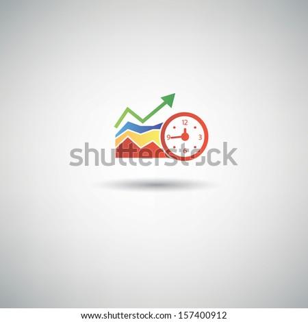 Time analysis symbol,vector - stock vector