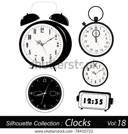Time and timers - stock vector