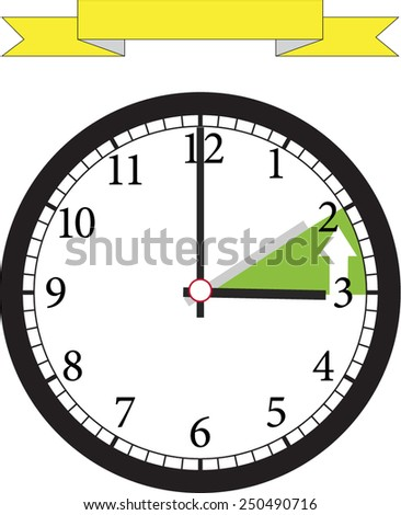 time change back  - stock vector