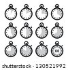 Time, clock, stopwatch vector icons set - stock photo