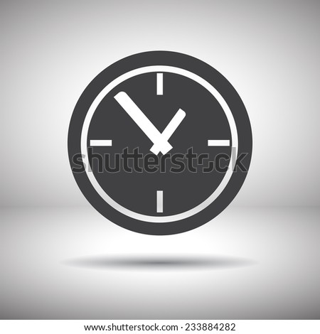 time clock vector icon - stock vector