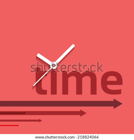 Time concept background design layout for poster flyer cover brochure - stock vector