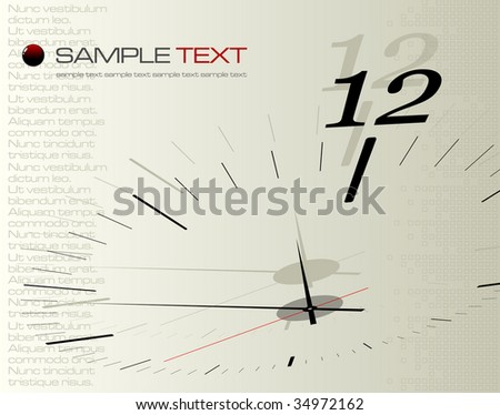 Time concept composition - vector illustration