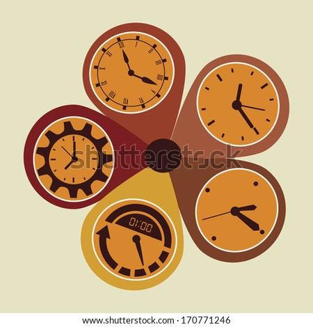time design over beige  background vector illustration - stock vector