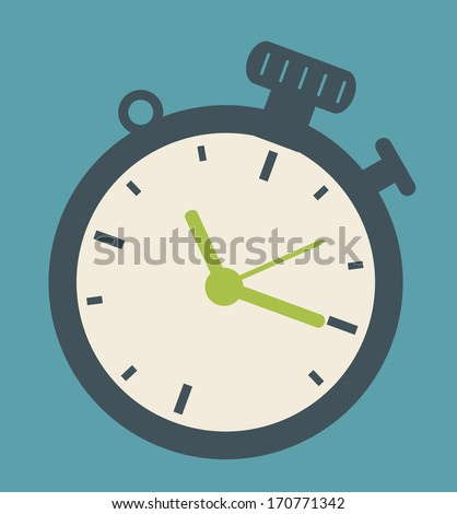 time design over blue background vector illustration - stock vector
