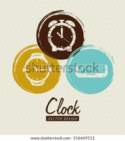 time design  over  dotted background vector illustration - stock vector