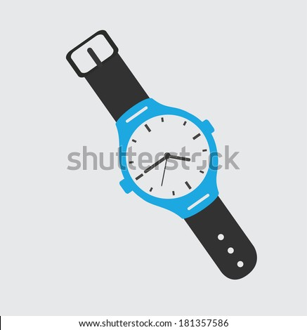 time design over gray background, vector illustration - stock vector