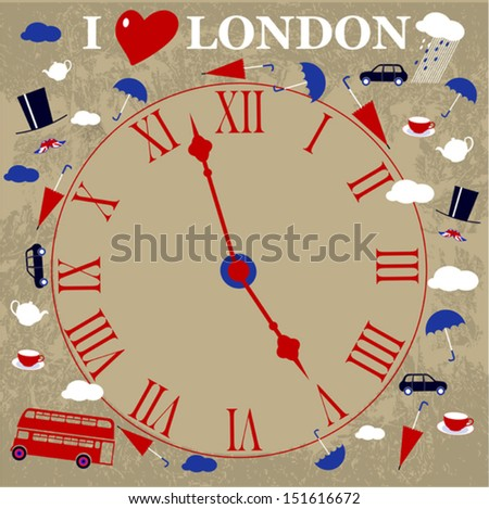 time english background - stock vector