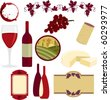 Time for a wine tasting party! This vinyard themed set comes with eleven graphics ready for some creative projects for invitations, wine labels and more - stock photo