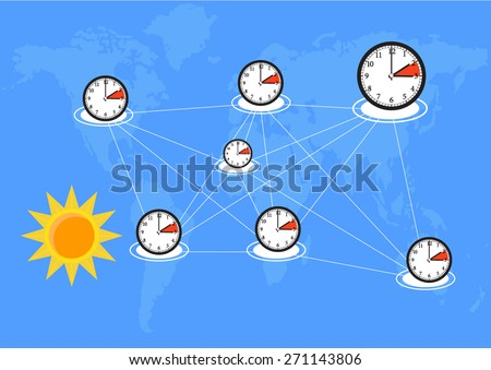 time for change world connection  - stock vector