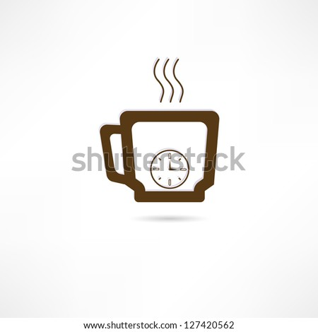 Time for coffee icon - stock vector