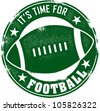 Time for Football Season Stamp - stock vector