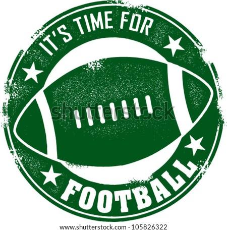 Time for Football Season Stamp