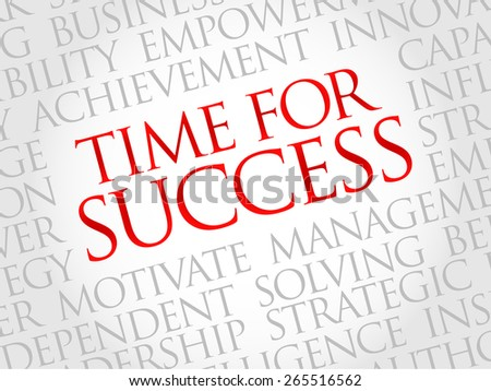 Time for Success word cloud, business concept - stock vector