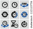 Time icons set. - stock vector