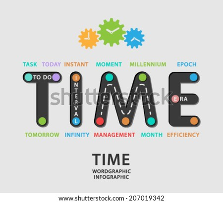 Time infographic. - stock vector