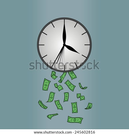 Time is money abstract vector illustration - stock vector