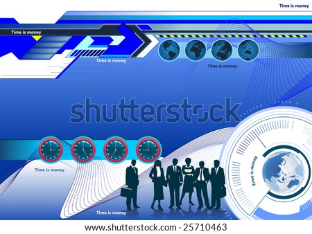 Time is money. Background vector image - stock vector