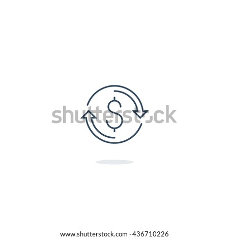 Time is money concept. Investment return, capital and assets growth. - stock vector