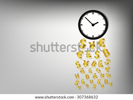 Time is money for financial and business concept, Vector illustration - stock vector