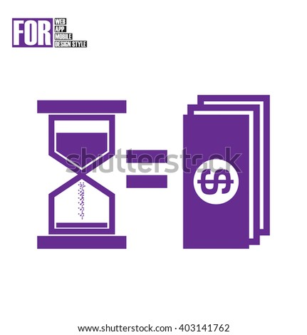 Time is money icon - stock vector