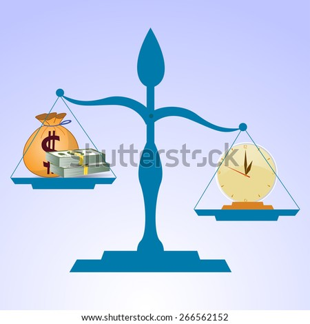 Time is more valuable than money  - stock vector