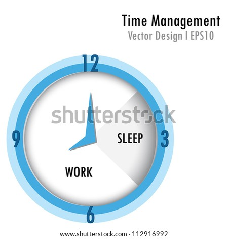 Time management - stock vector