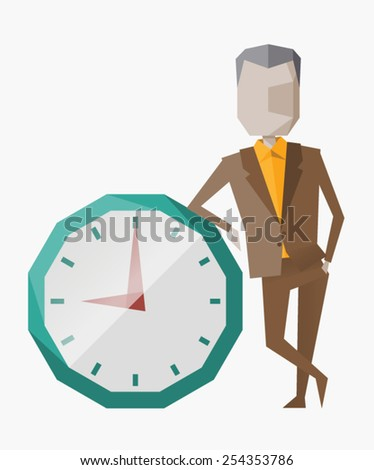 Time management. Vector illustration. Proper planning and time management the key to success in achieving the goal - stock vector